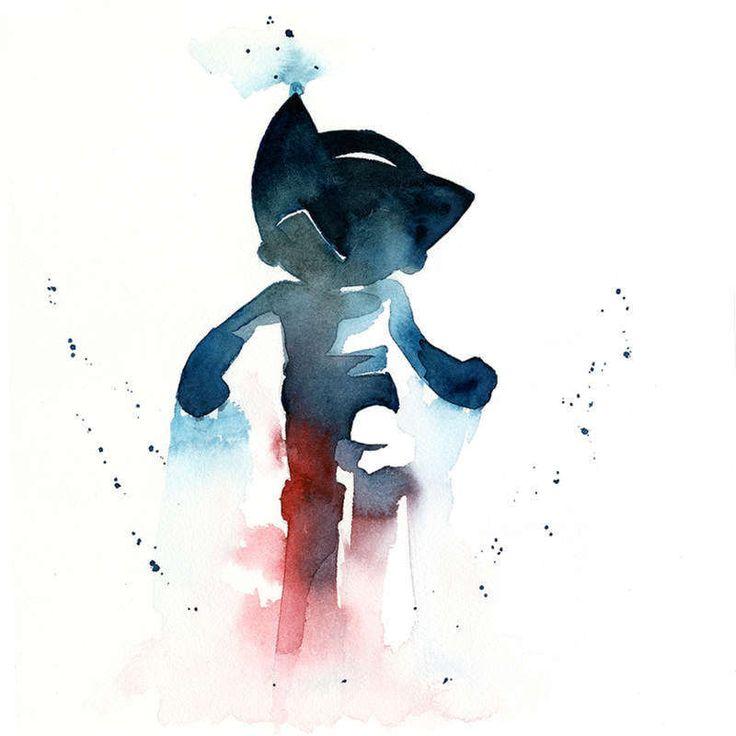 watercolor-astro boy
