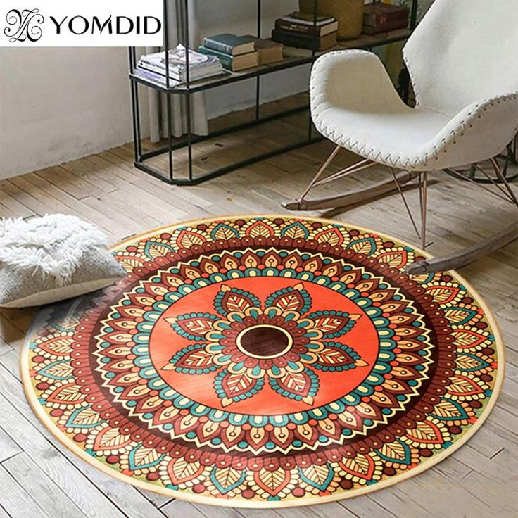 rug for living room size%0A Buy Bohemian Mandala Round Carpets India Style Mat Carpet For Living Room  Bedroom Home Decor AntiSlip Kid Rug Baby Crawling Blanket        ICON