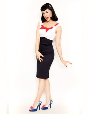 Yes, I have a thing for sailor-style pin-up clothes!