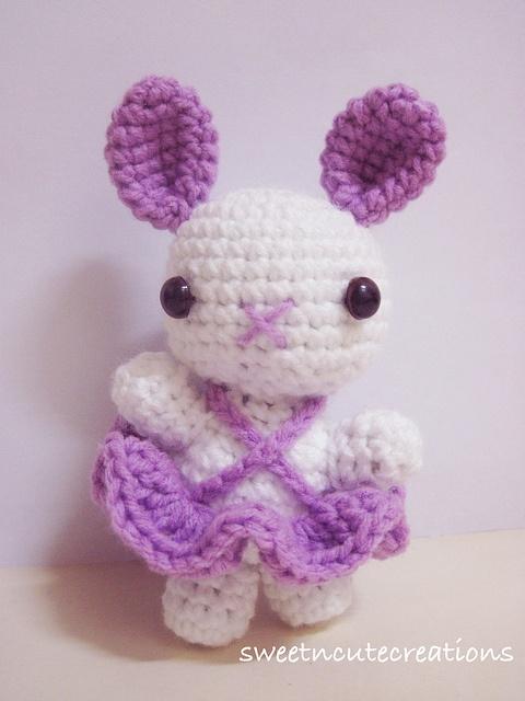 free, bunny ballerina amigurumi pattern