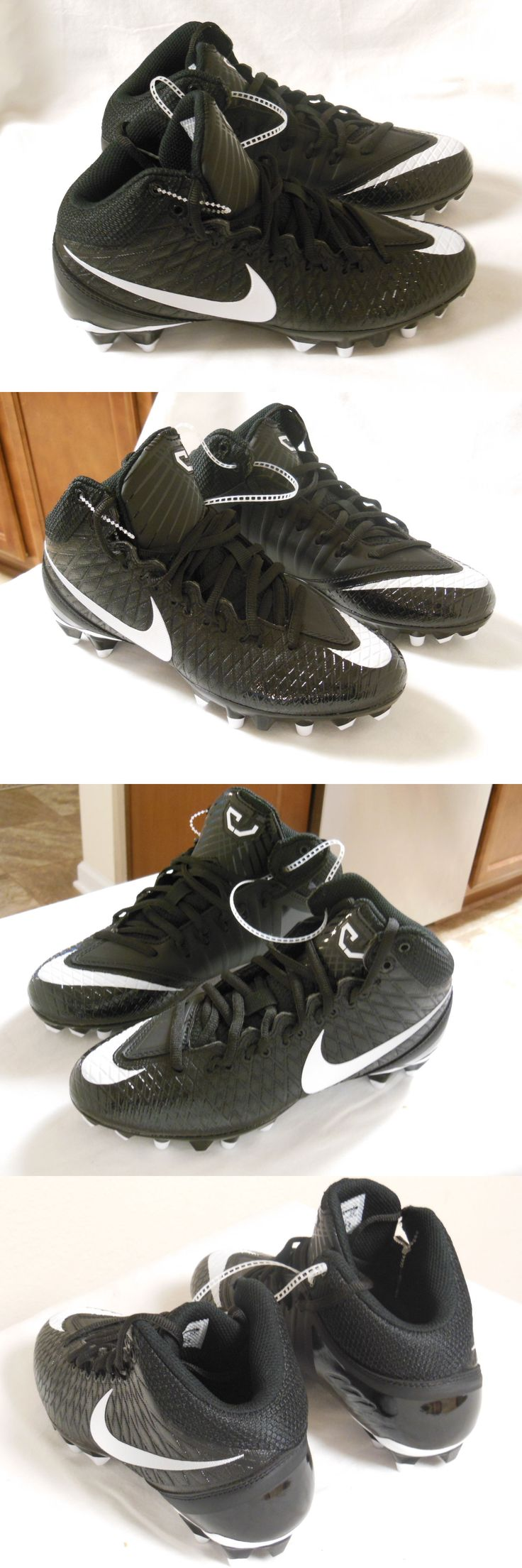 Youth 159118: Nike Calvin Johnson Cj3 Pro Td Youth Football Cleats Black 723975-010 Size 4.5Y BUY IT NOW ONLY: $32.95