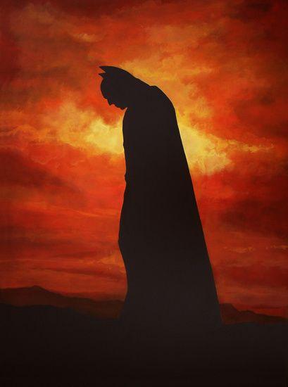 Realistisch schilderij in acrylverf, van de superheld Batman, geschilderd door de Emmense kunstenaar/kunstschilder Paul Meijering. De afmeting van het originele schilderij is 120 x 90 cm en beschikbaar voor de verkoop.