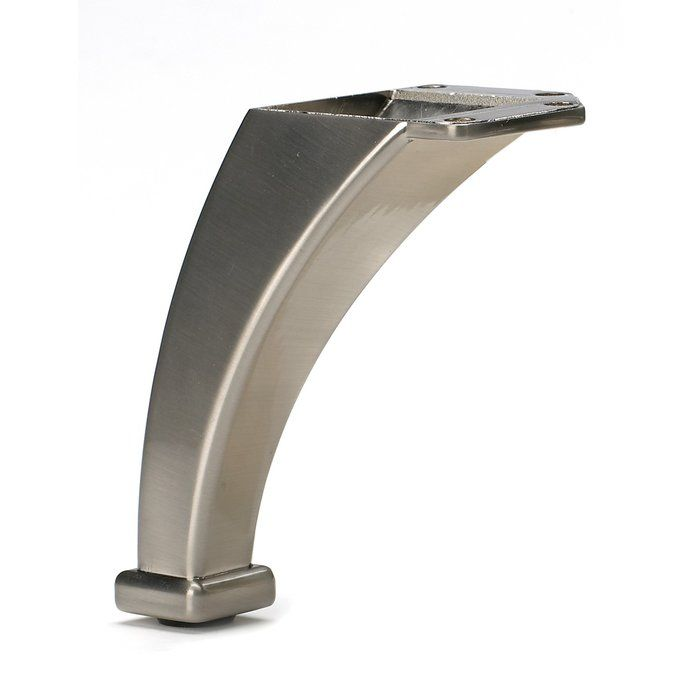 Furniture Legs Brushed Nickel furniture legs brushed nickel with extra large shallow cup castors