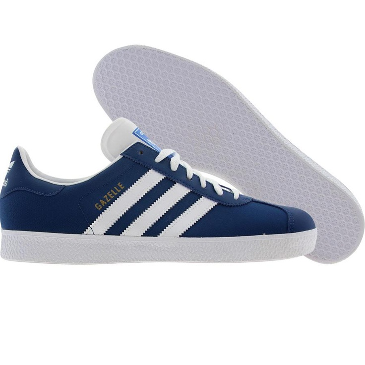 Adidas Gazelle 2 (lone blue / white / gold) V24414 - $64.99