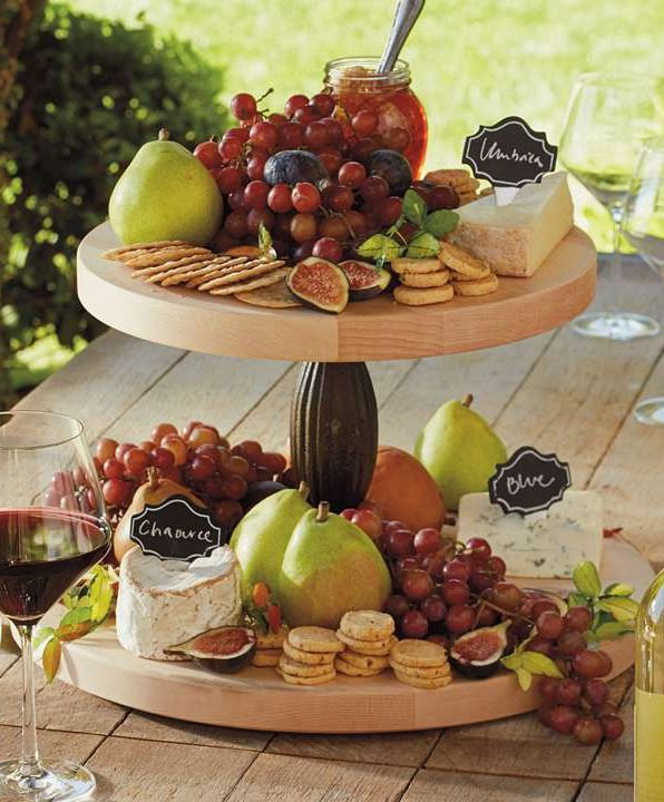 Used as a serving tray or simply as an attractive display, our roomy Two-tier lazy Susan has a sophisticated wine-country appeal.Holiday Ideas, Lazy Susan, Wine Country Appeal, Attraction Display, Sophisticated Wine Country, Servings Trays, Parties Ideas, Two Tiered Lazy, Roomie Two Tiered