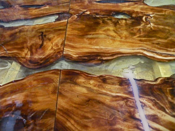 Ancient Kauri Table Top Sanded And Filled With Epoxy