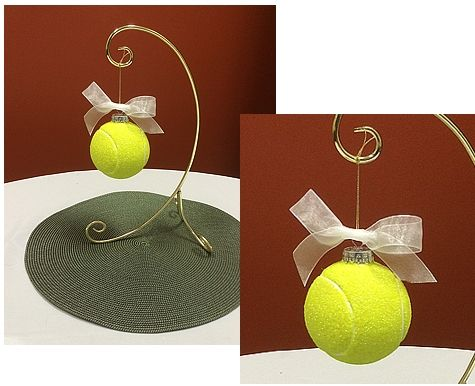 Tennis Ideas, tips and tricks: Elegant Ornament Tennis Ball Centerpiece. Perfect for tennis themed Award banquets, weddings, or ladies luncheons.