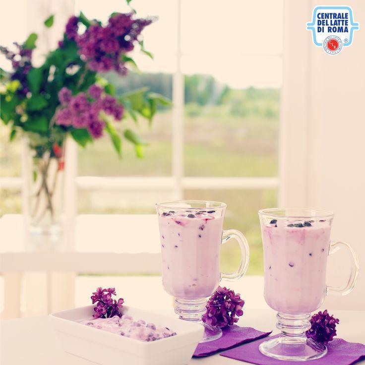 Frappè di #yogurt ai mirtilli *** Blueberry milkshake