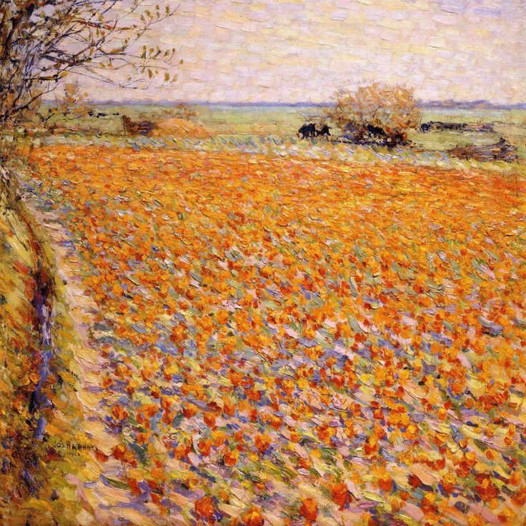 Tulips are here again (Day XI): 'Tulpenvelden in Holland' - Joseph Raphael.