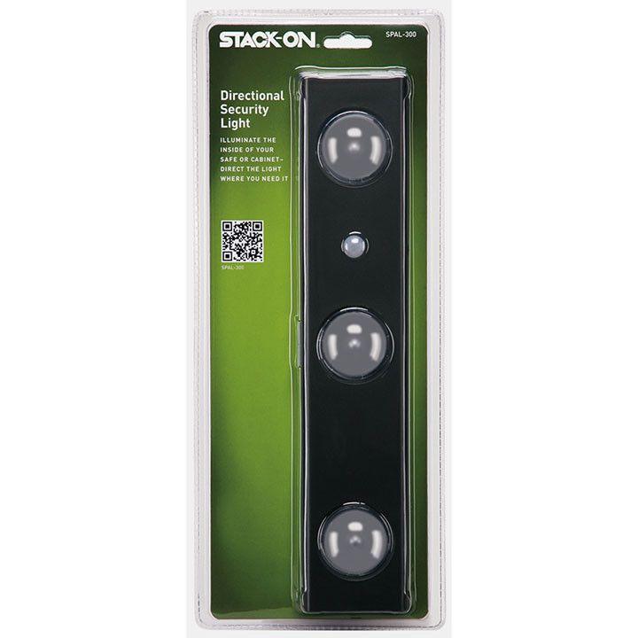 Stack On Safe Light: Motion Sensitive 3-light directional LED Light. Battery Op.