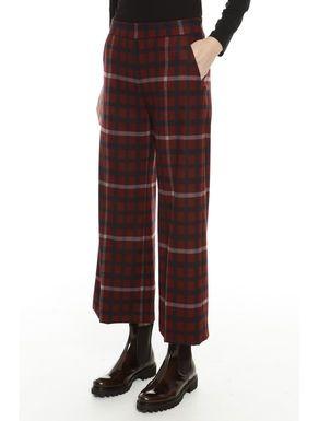 Pantaloni cropped a quadri