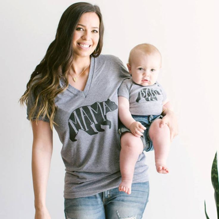Victory! Check out my new Mama Bear and Baby Bear Adorable Matching Tee in Grey , snagged at a crazy discounted price with the PatPat app.