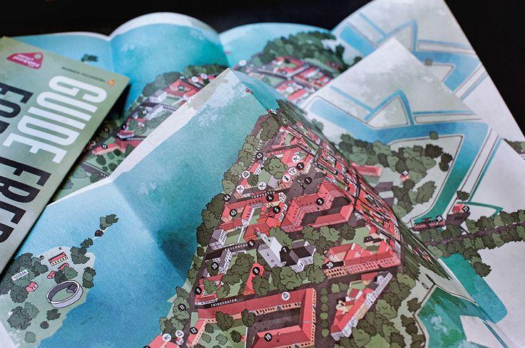 Tourist map - Fredrikstad Fortress Town on Behance