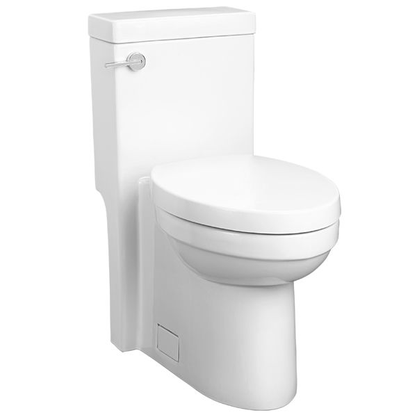 Master & Hallway Bathrooms: DXV Seagram One-Piece Elongated Toilet- Canvas White
