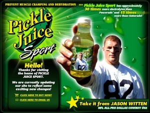 """While there are no scientists here at VBLNATION, we can say with all certainty that we have witnessed the pickle juice phenomenon that has brought many an athlete back on their feet after a wild leg cramping session. Those moments (coupled with the fact that we love pickles) are reason enough for pickle juice to make our list ofmust have items """"in my VBL bag."""""""