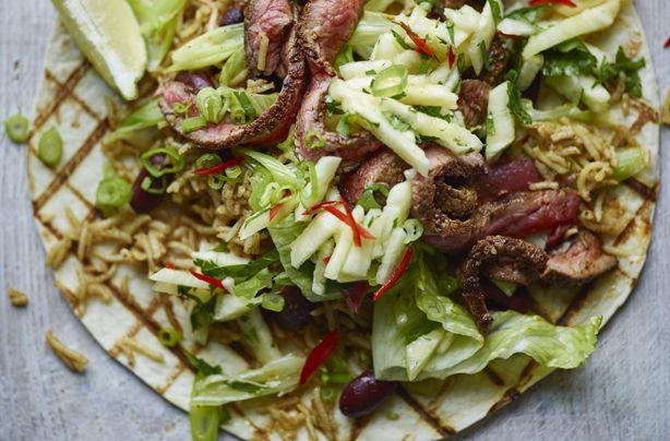 Joe Wicks' naughty steak burrito with pineapple salsa recipe - goodtoknow