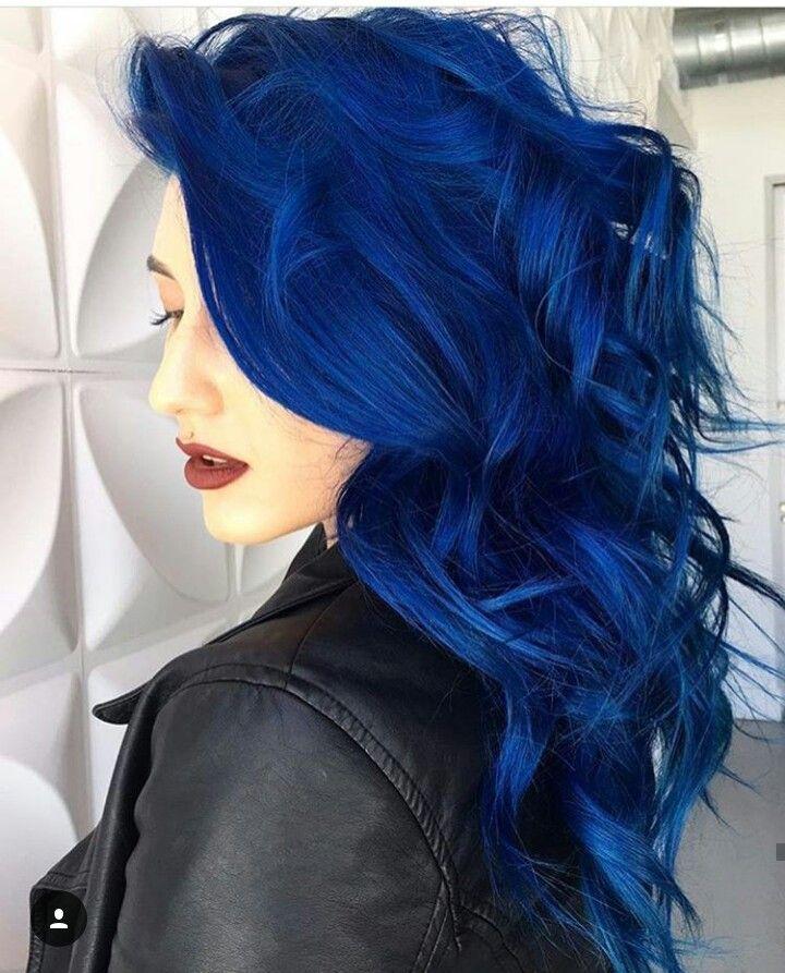 Картинки синий цвет волос