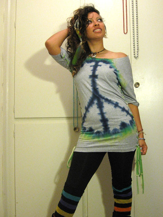 Tie dye peace by myhunnystees on Etsy, $40.00