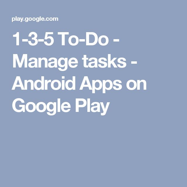 1-3-5 To-Do - Manage tasks - Android Apps on Google Play
