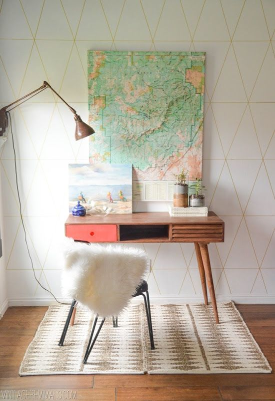 Office Inspiration | Modern office with a map