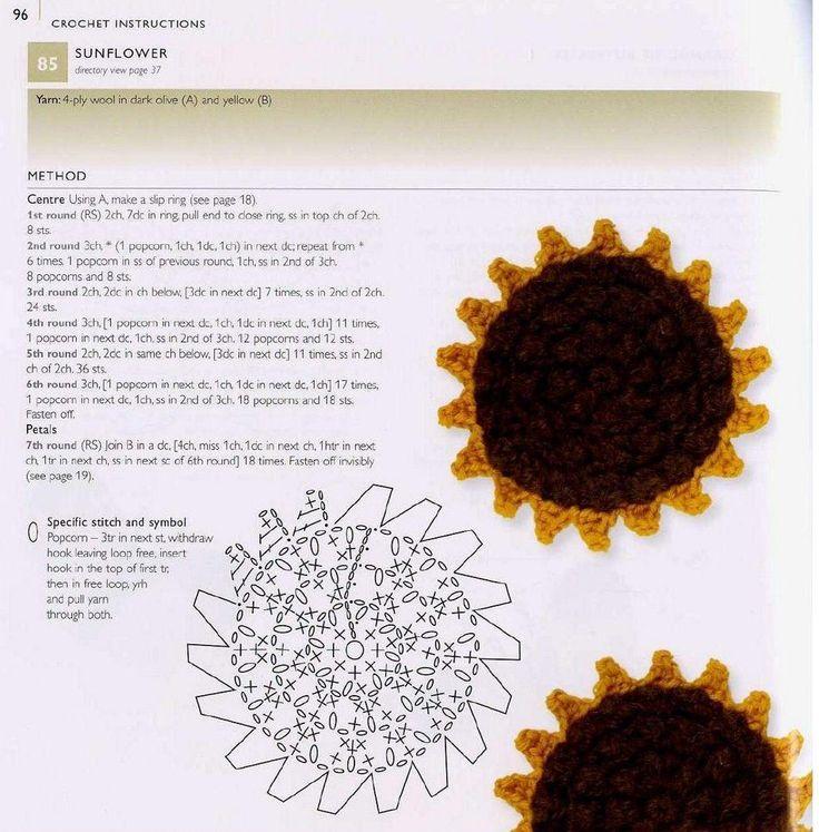 109 besten 100 flowers to knit & crochet Bilder auf Pinterest ...