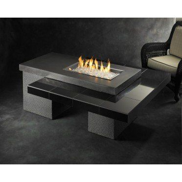 Uptown Chat Height Fire Pit Table With 24x12 In. Burner