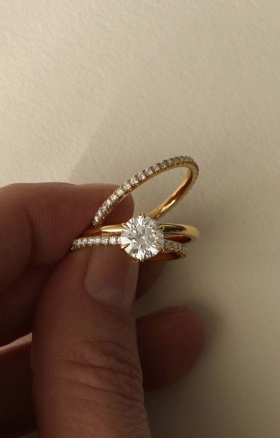 Diamond Engagement Rings Fingers Cincin Tunangan Berlian Perhiasan Pernikahan Cincin Kawin