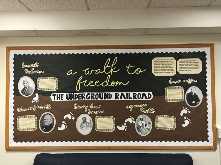 Black History Month/Underground Railroad Bulletin Board #RA #bulletinboard #RAideas