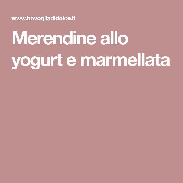 Merendine allo yogurt e marmellata