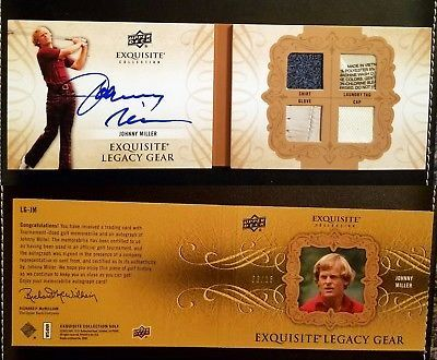 Golf Cards 4240: Johnny Miller Auto Autograph Upper Deck Exquisite 9 15 Booklet Patch Legacy Gear -> BUY IT NOW ONLY: $99.99 on eBay!