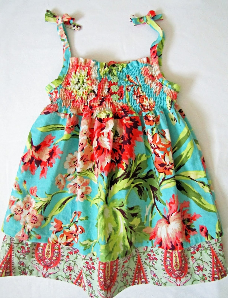 Sweet...love the versatility...dress or shirt... For summer!!!  Love the fabric