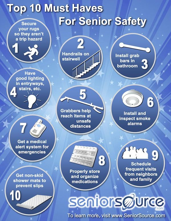 Top 10 Must Haves for Senior Safety #seniorsafety #preventingfalls