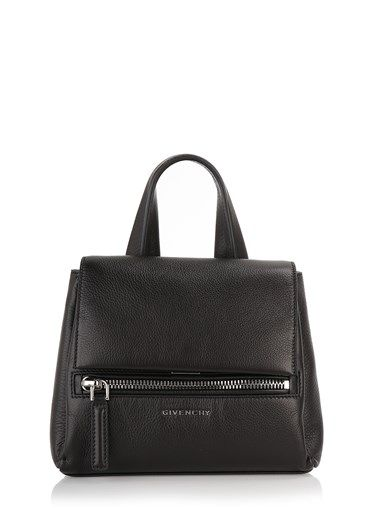 ' Pandora Pure ' mini from Givenchy . Zippered front pocket , flap closure with front flap , adjustable shoulder strap , inside pocket.