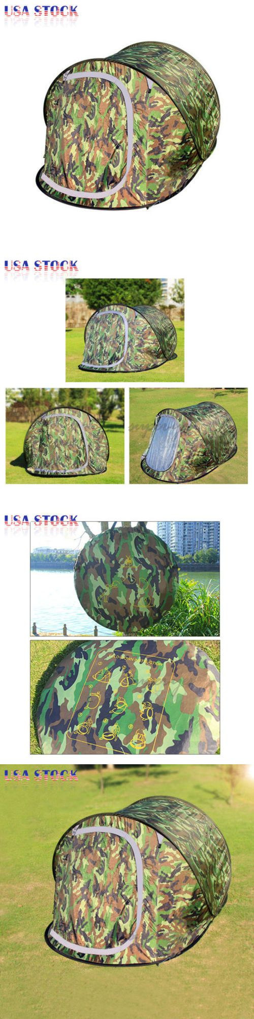 Canopies and Shelters 179011: Pop Up 2-3 Person Camping Hiking Tent Automatic Instant Beach Shelter Camouflage -> BUY IT NOW ONLY: $42.5 on eBay!