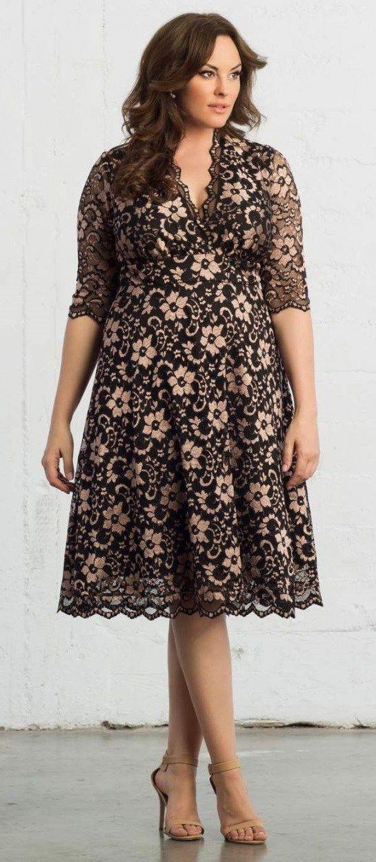 Plus Size Fashion | Festkjoler, Store størrelser, Kjole