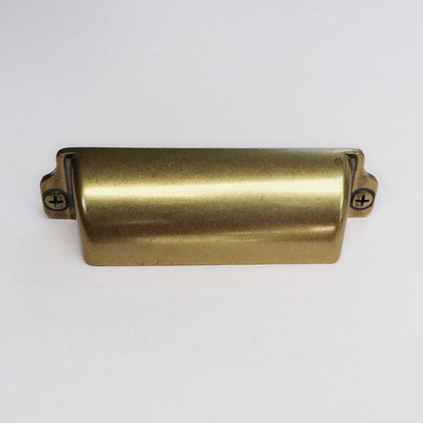 Reeded Cup Bin Cabinet Brass Knob Pull Kitchen Brass Drawer Pull Brass Knobs Gold Cabinet Knob