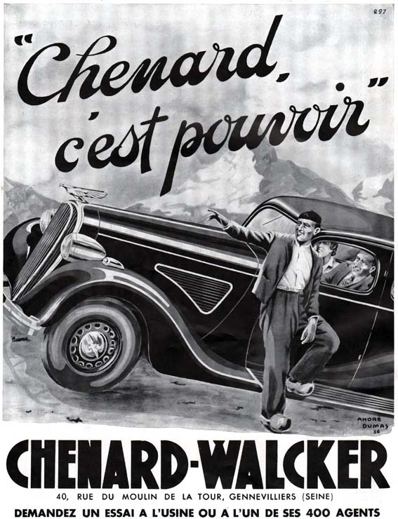 12 best chenard walcker automobile ads images on for Top garage gennevilliers