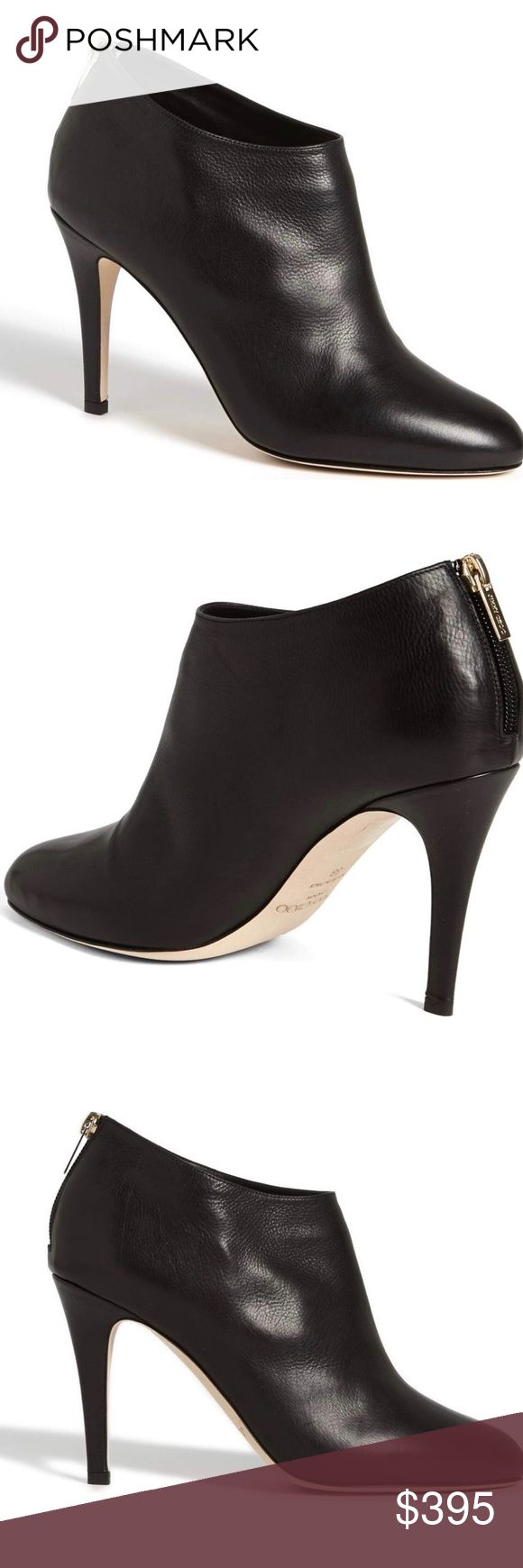 """Jimmy Choo Mendez Booties Excellent condition, once work once! Jimmy Choo Mendez booties in black leather, size 43.  3 1/2"""" heel height, 3 1/4"""" boot shaft. Back zip closure, leather upper and lining. AS SEEN ON MEGHAN MARKLE! Jimmy Choo Shoes Ankle Boots & Booties"""