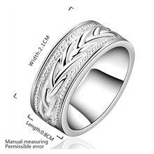 Ingyenes házhozszállítás !! nagykereskedelme 925 ezüst gyűrű, divat Ezüst ékszer, Búza vénák Ring Top Quality SMTR650 (Kína (szárazföld))