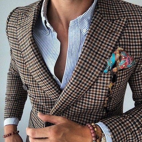 Double breasted jacket - men's fashion style