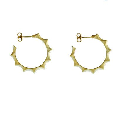 Classic hoops - gold plated silver | my-precious.com