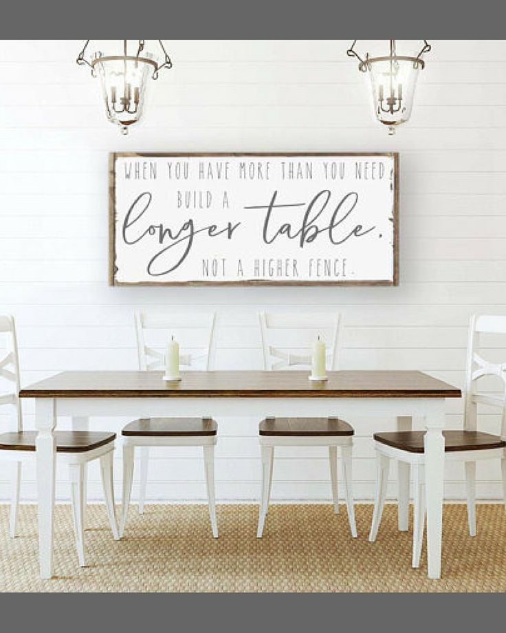 When You Have More Than You Need Build A Longer Table Sign Large Wood Sign Inspirational Quotes Inspirat Inspirational Signs Wood Signs Sayings Table Signs