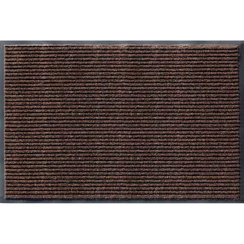 Apache Mills 01-033-1410 Rib Commercial Carpeted Indoor and Outdoor Floor Mat, Cocoa Brown, 2 by 3-Feet by Apache Mills. $22.32. Popular rib construction traps dirt and moisture in recessed channels below shoe level. Slip resistant vinyl backing. Removes soil and debris from shoes and promotes cleanliness. Scraper mat action. Stain and fade resistant needle punch carpet. Top selling commercial carpeted floor mat with durable vinyl backing. Hi-Lo ribs make for scraper action...