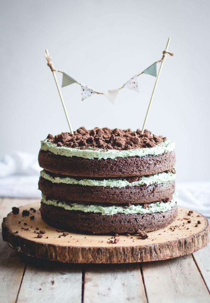 Mint Chocolate Chip Cake // butterlust.com