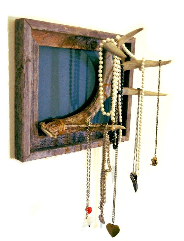 how to make an antler jewelry holder out of a deer's annually shed antlers