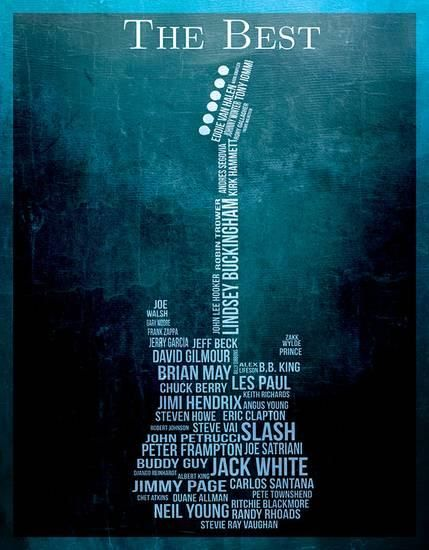 The Best Guitarists Tin Sign at AllPosters.com