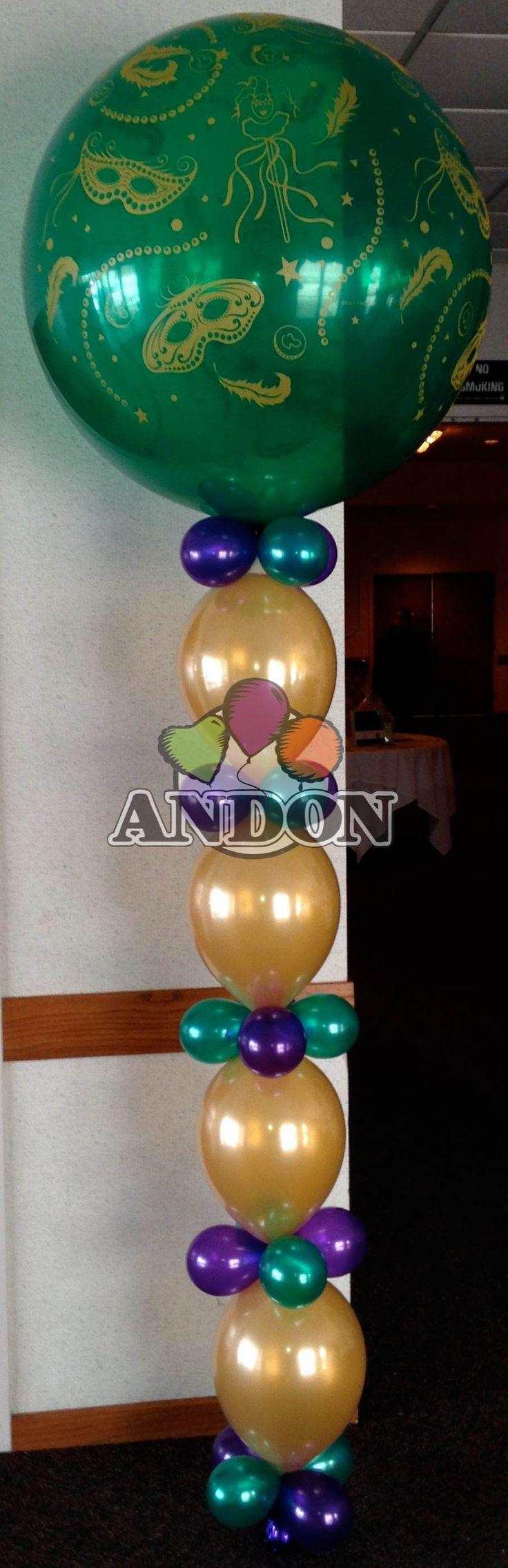 Balloon Columns Info Board Masquerade Balloons Arch