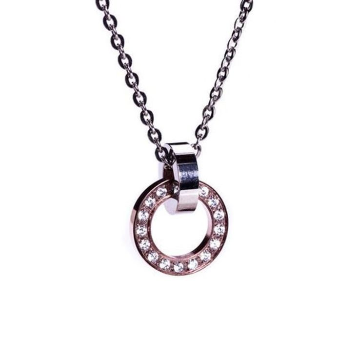 Edblad Eternity orbit necklace short rosegold/steel PG 5 79110