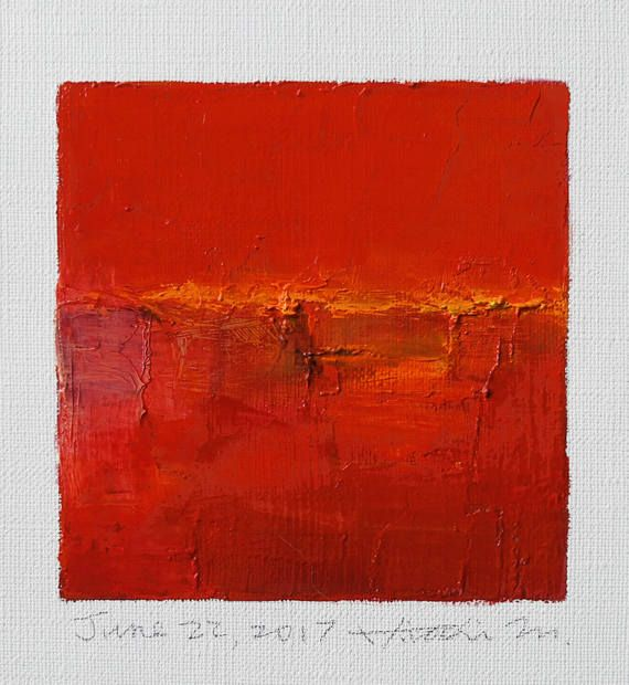 June 22 2017 Original Abstract Oil Painting 9x9 painting