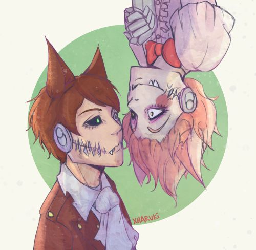 Human mangle and foxy five nights at freddy s fnafs pinterest